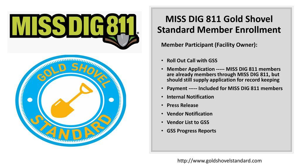 Miss Dig 811 Gold Shovel Standard Gss Ppt Download A golden shovel, unlike the regular shovel, has a powerful special ability. miss dig 811 gold shovel standard gss