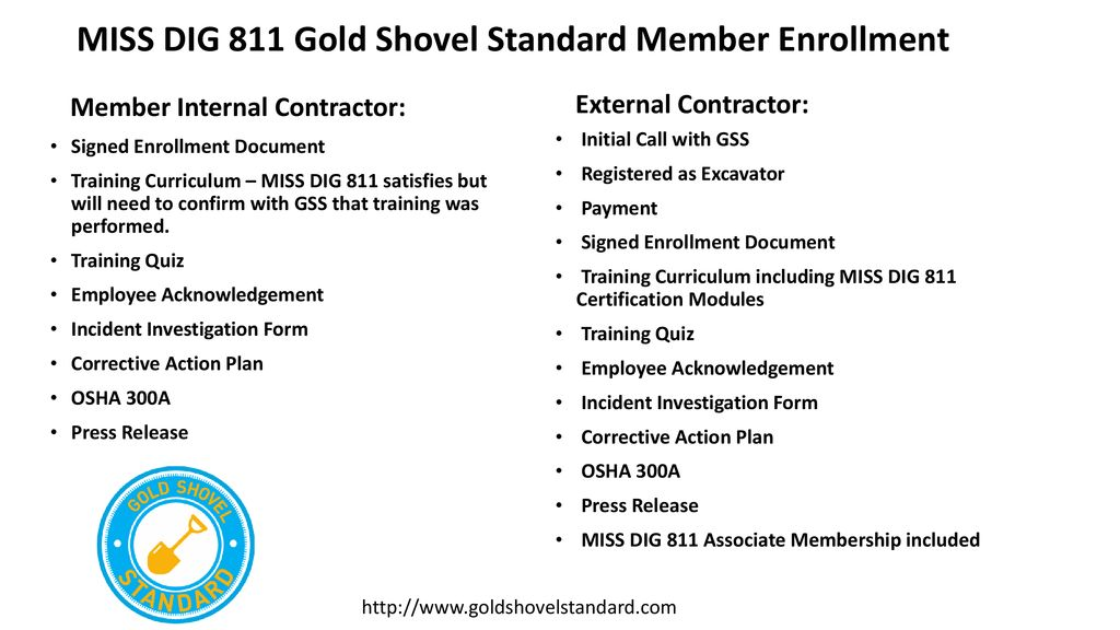 Miss Dig 811 Gold Shovel Standard Gss Ppt Download Manage all employee certification accounts free ticket research annual meeting discount on miss dig items design ticket access future tms. miss dig 811 gold shovel standard gss