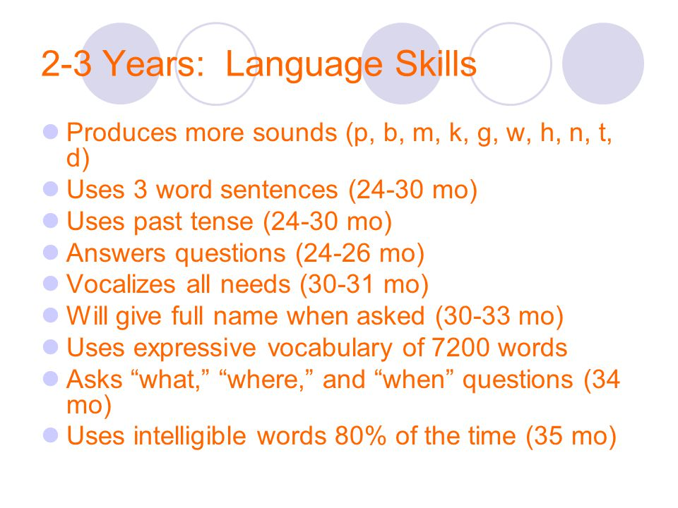 2-3 Years: Language Skills