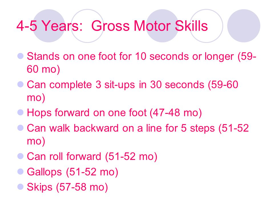4-5 Years: Gross Motor Skills