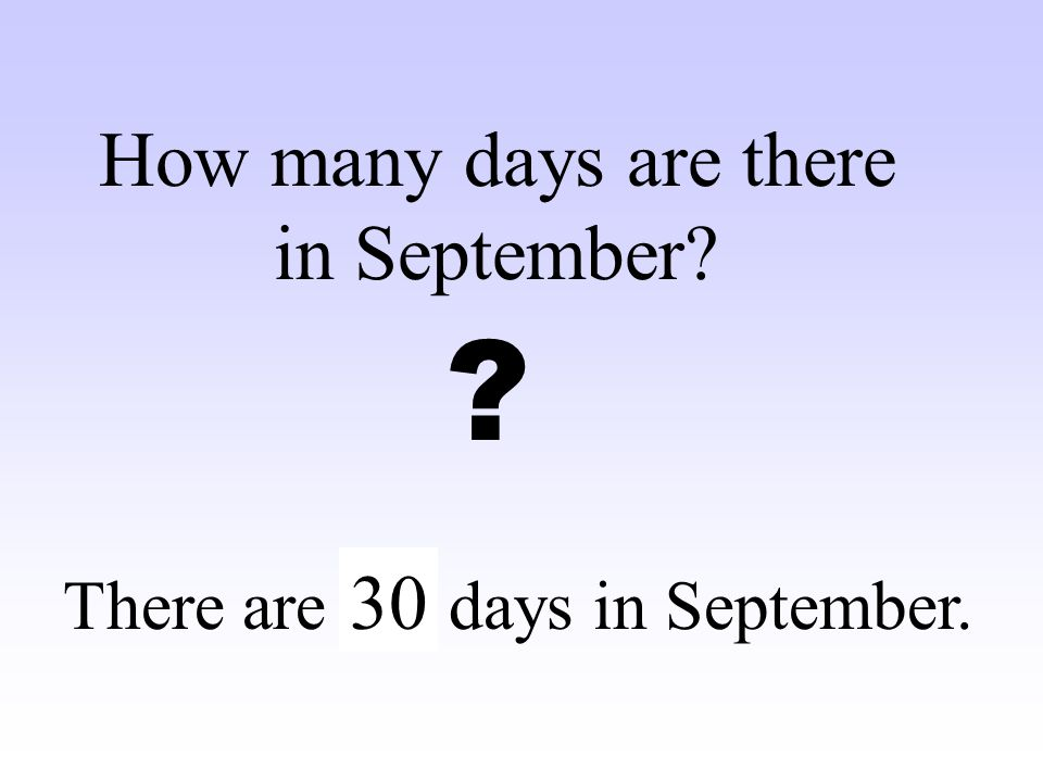 How many days are there in September 30
