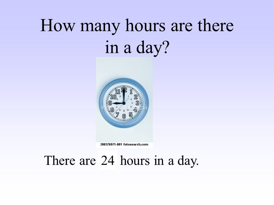 How many hours are there in a day
