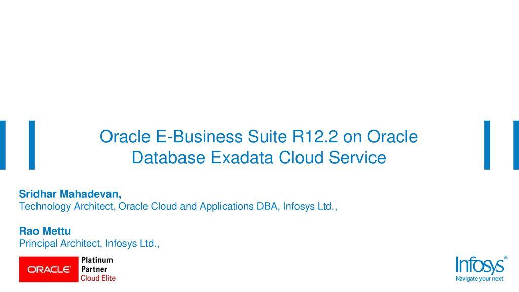 Oracle Open World 2018 Monday, Oct 22, 5:45 p  m  - 6:30 p  m - ppt