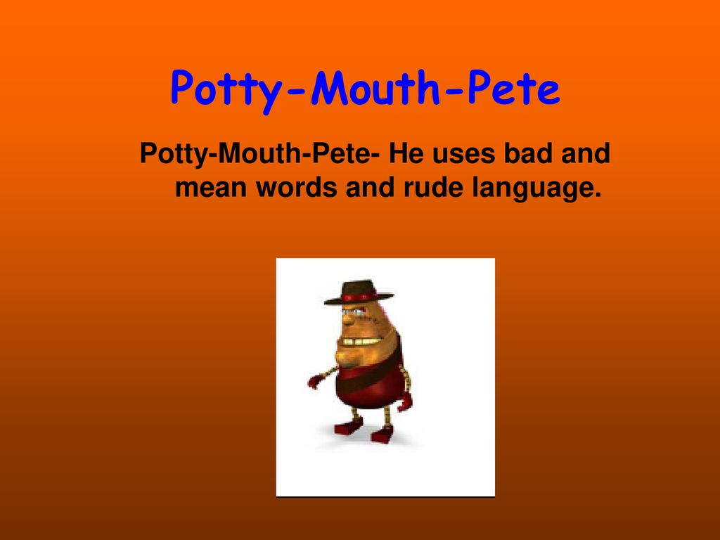 what does potty mouth mean