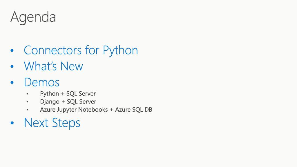 SQL Server + Python Meet Bhagdev Program Manager  - ppt download