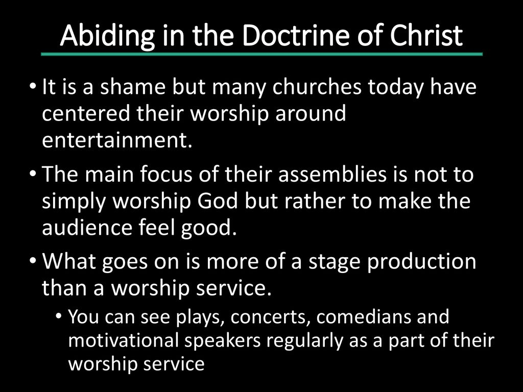 Abiding In The Doctrine of Christ - ppt download