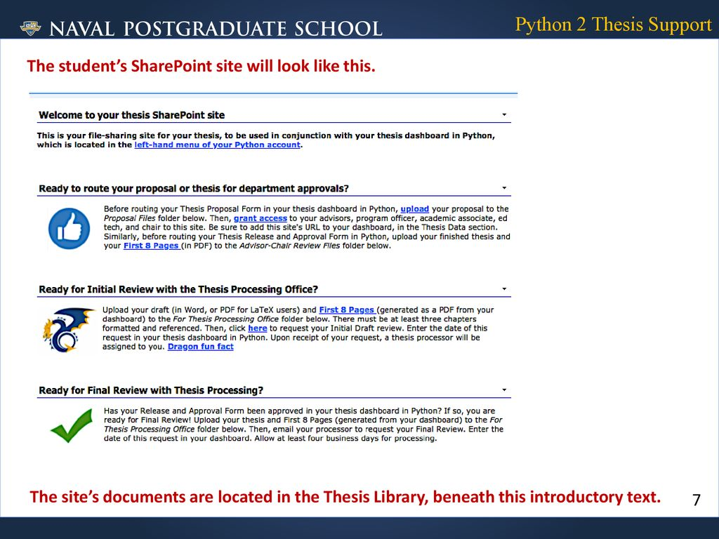 FACULTY and POs: Routing NEW Thesis-Proposal Approvals in