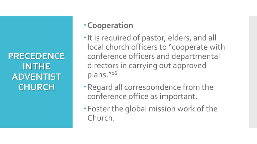PROTOCOL FOR CHURCH ELDERS AND OTHER CHURCH LEADERS - ppt