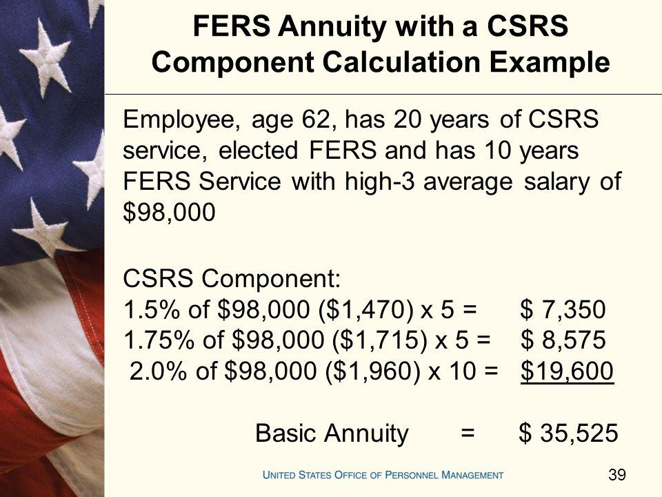4 things to know about your fers annuity: fedsmith. Com.