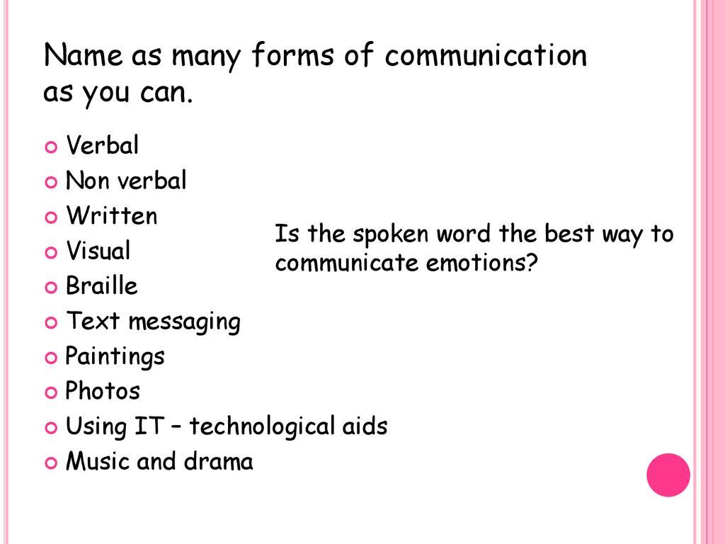 music and drama communication