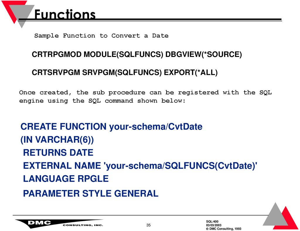 SQL – Procedures And Functions - ppt download