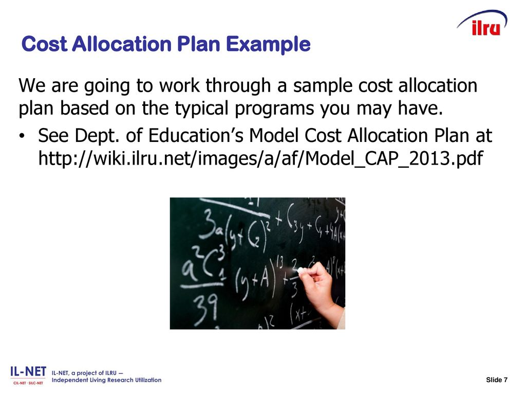 Slide 7 Cost Allocation Plan Example