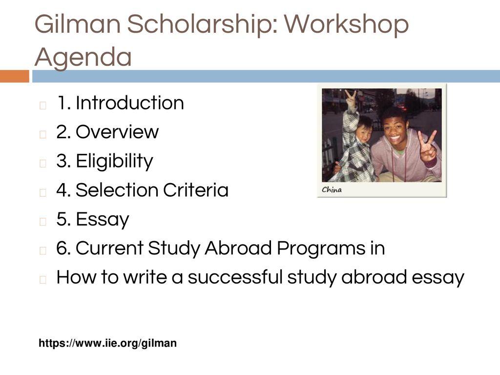 Benjamin A Gilman Study Abroad Scholarship Mesa College Study   Gilman