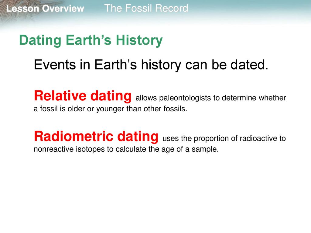 how is radiometric dating helpful in determining the history of earth