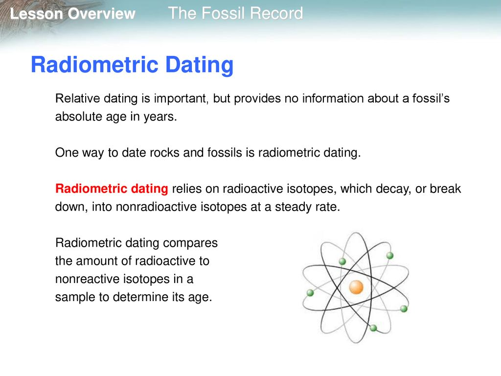 Radiometric dating isotope found fossils