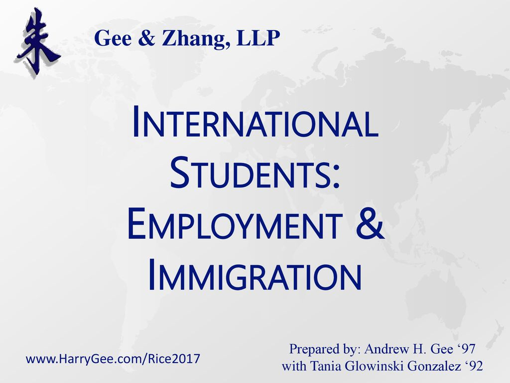 International Students: Employment & Immigration - ppt download