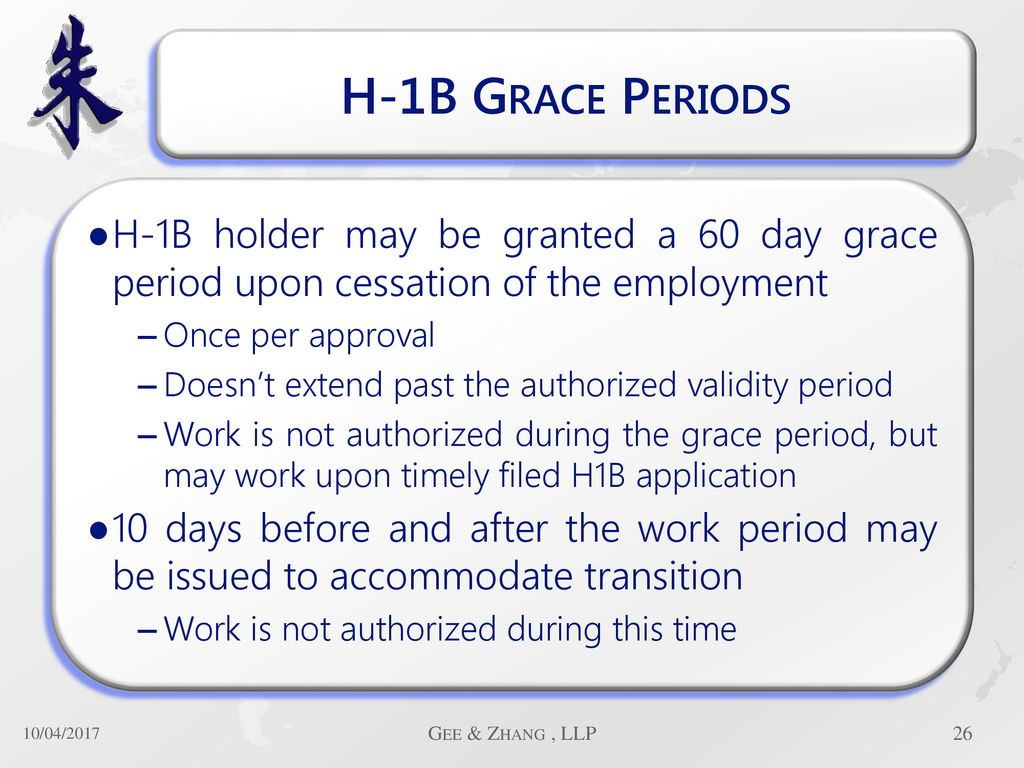 60 Day Grace Period H1b Transfer