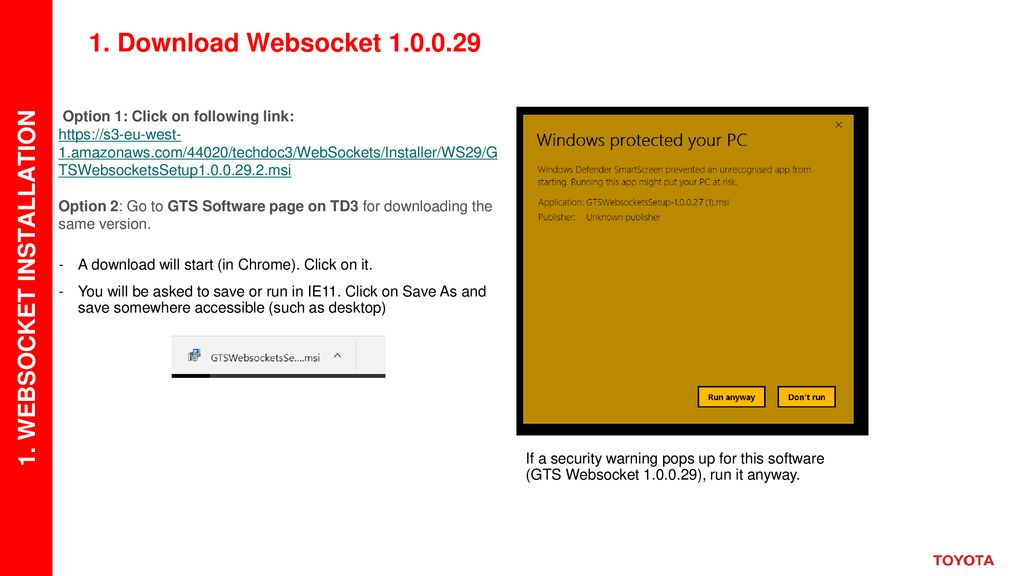 GTS WebSocket General Guide - ppt download