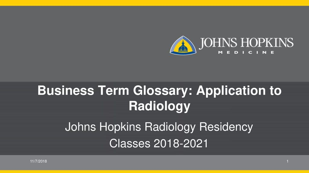 Business Term Glossary: Application to Radiology - ppt download