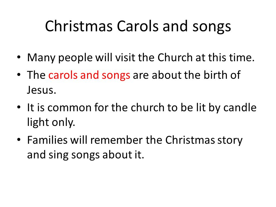 christmas carols and songs - Church Christmas Songs