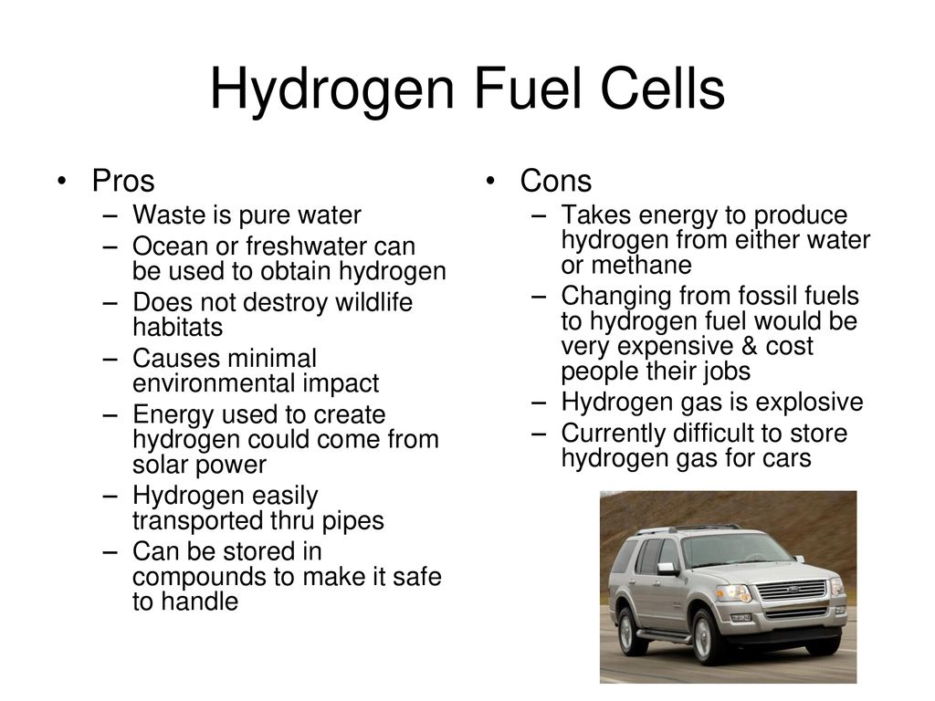 17 Hydrogen Fuel Cells Pros Cons