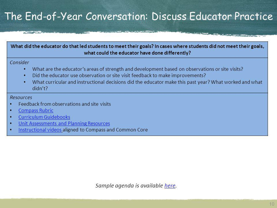 The End-of-Year Conversation: Discuss Educator Practice
