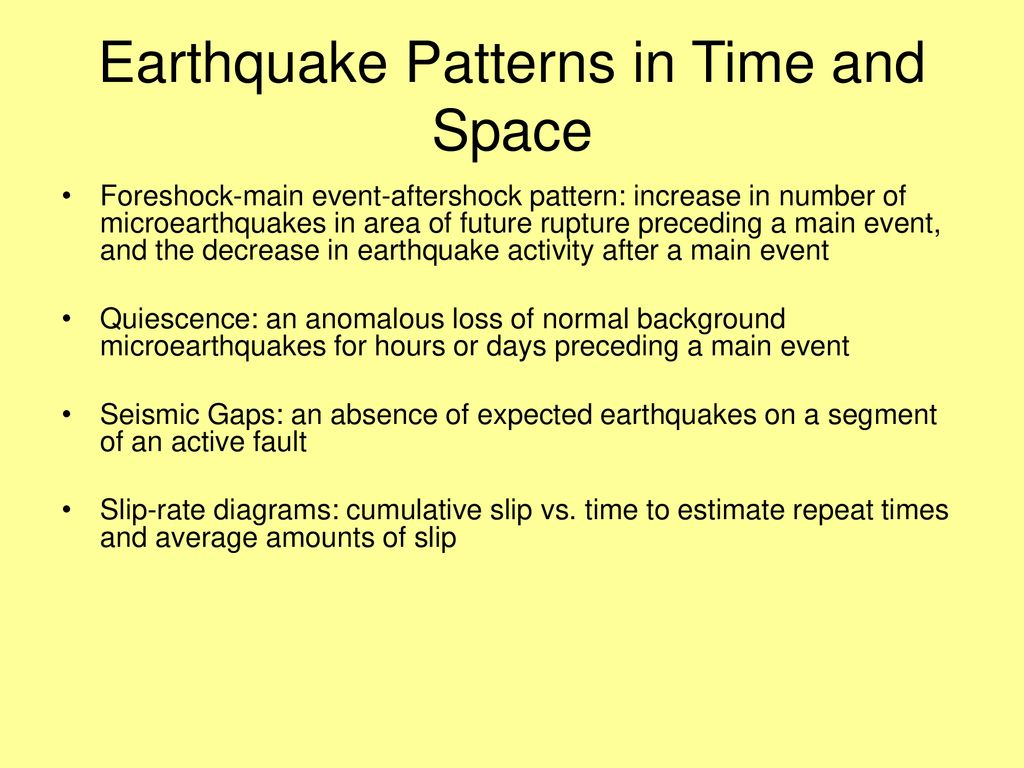 EARTHQUAKE EFFECTS, PATTERNS, AND RISK - ppt download