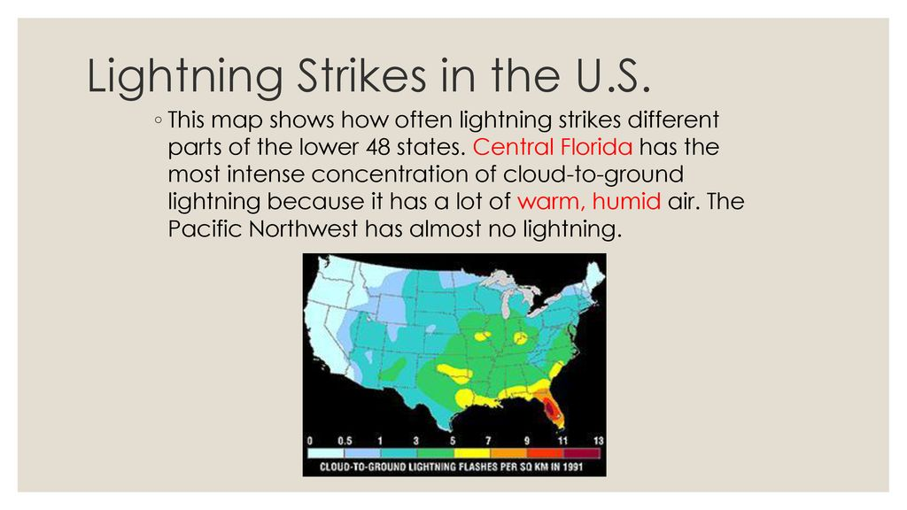 Lightning Strikes Map Florida.Severe Weather And Storms Ppt Download
