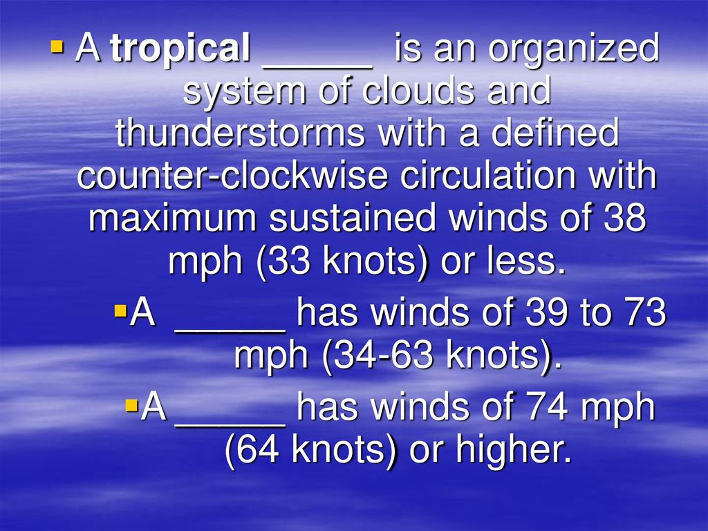 33 Knots To Mph >> Hurricane By Mr Hunter Ppt Download