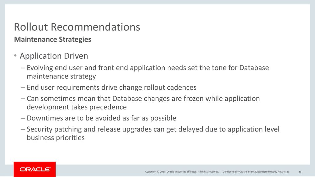 Rollout Recommendations