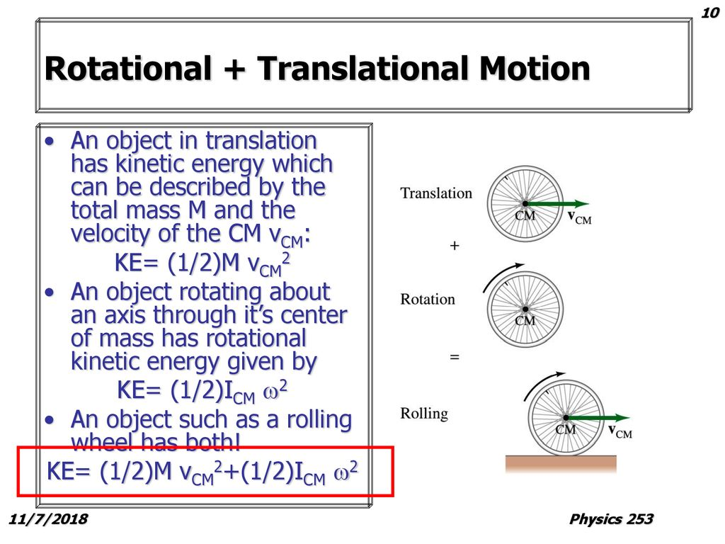 10 Rotational Translational Motion
