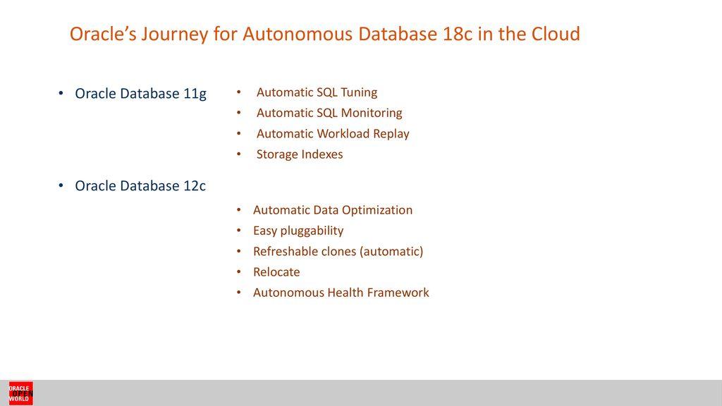 Oracle Database 18c Vs 12c