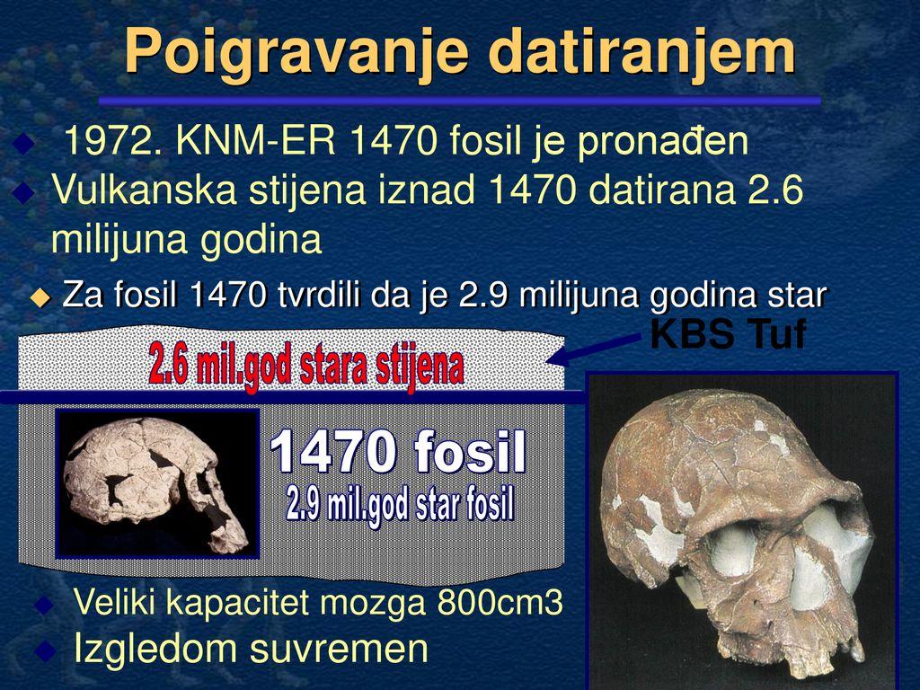 zašto su datiranje fosila netočno