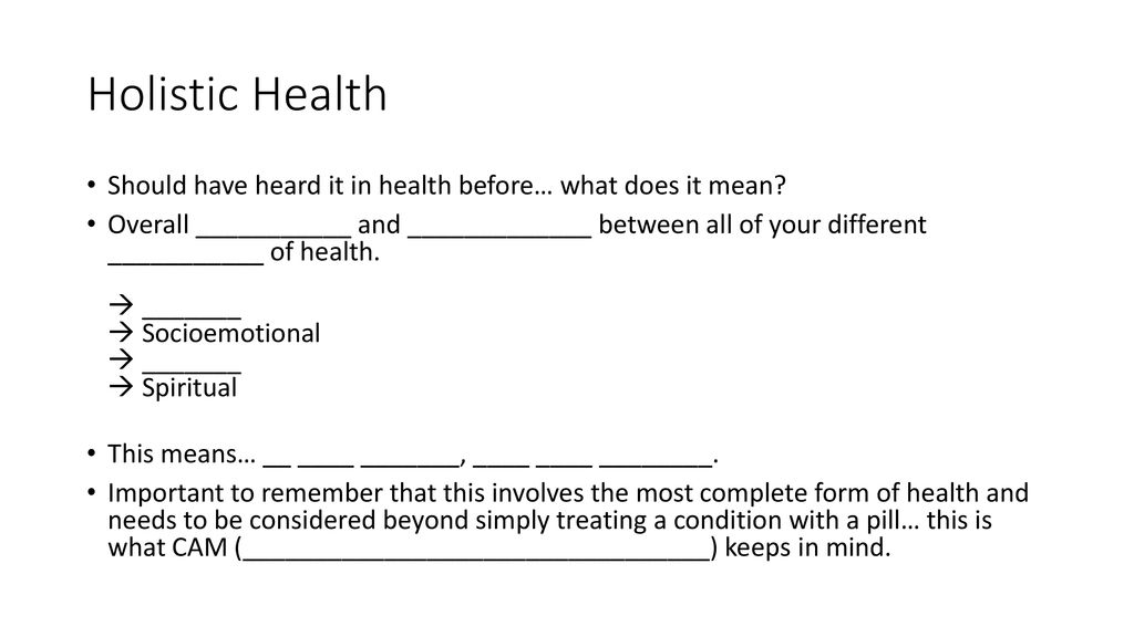 What is Health Science? Health Science is: Big idea of this