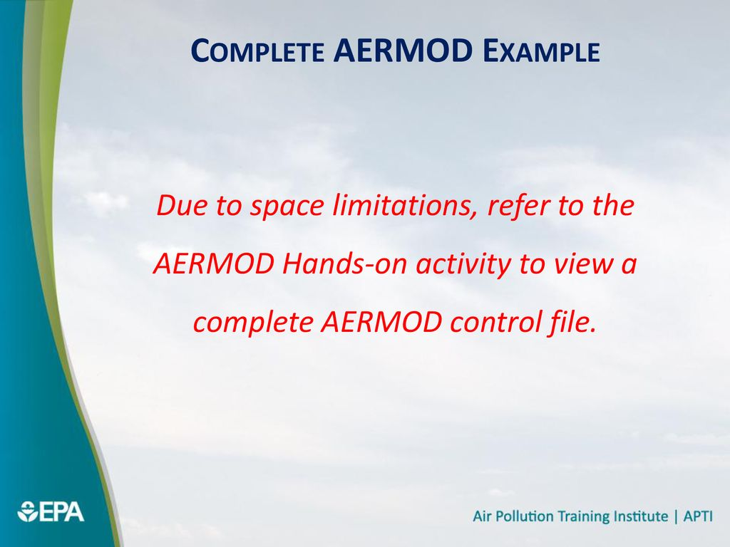 AERMOD Set-up Course #423 Day 3 Morning - ppt download
