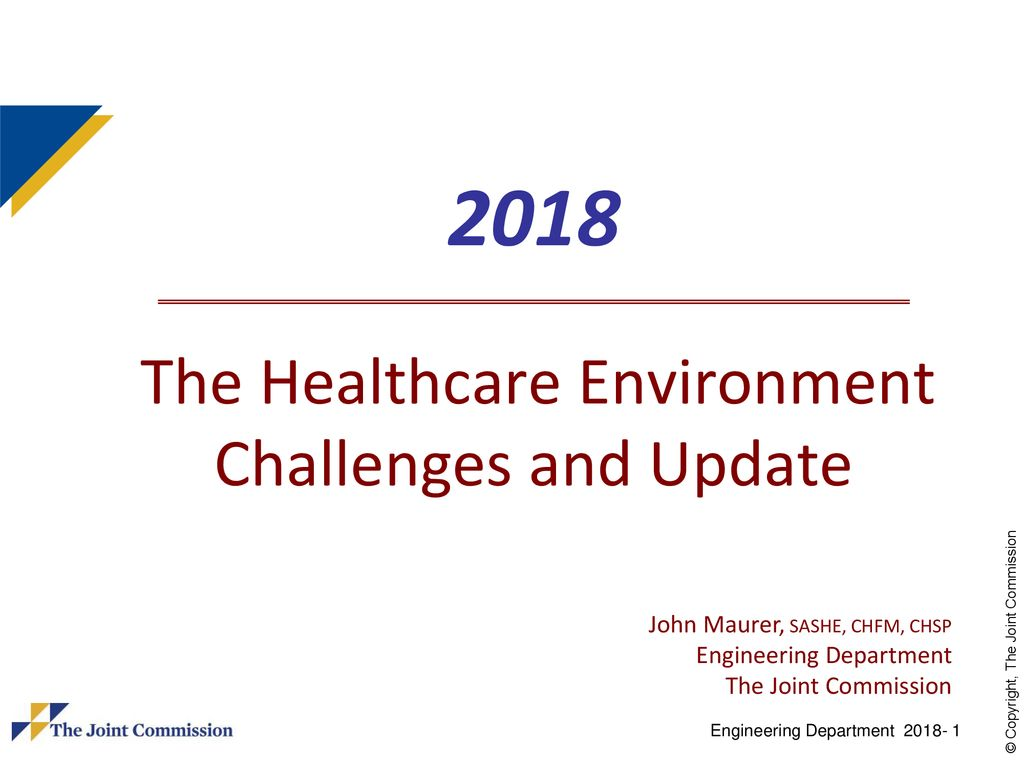 2018 The Healthcare Environment Challenges and Update - ppt