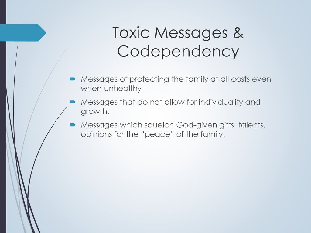 Toxic Messages & Codependency