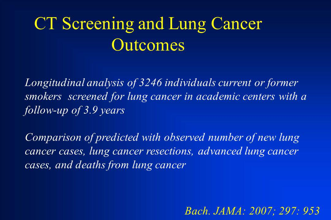 CT Screening and Lung Cancer Outcomes