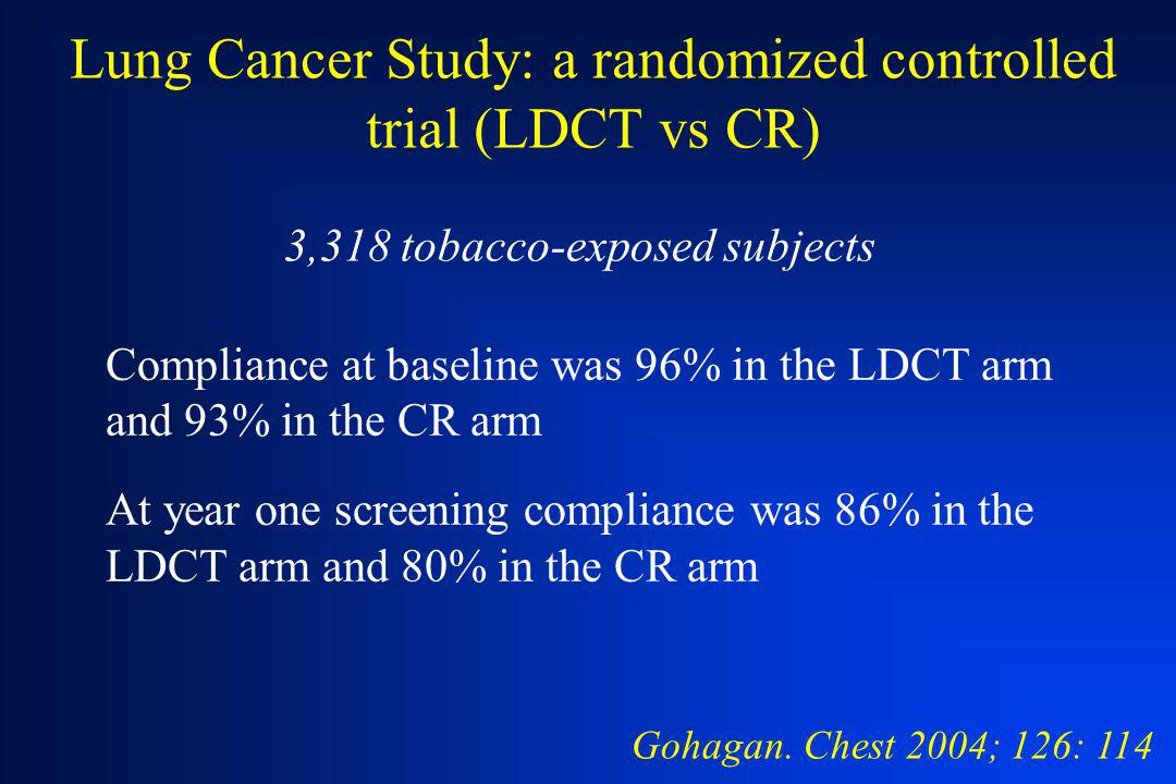 Lung Cancer Study: a randomized controlled trial (LDCT vs CR)