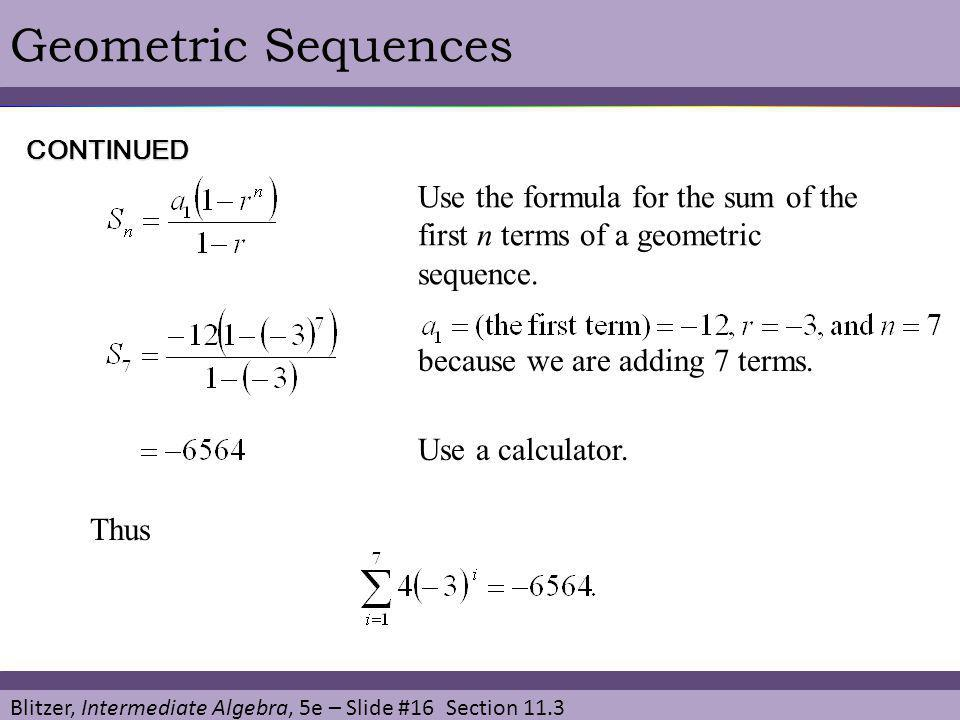 11 3 Geometric Sequences and Series  - ppt video online download