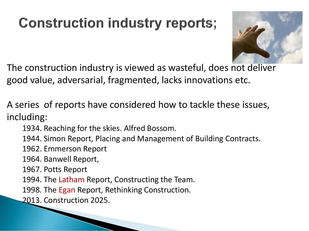 impact of latham report to the construction industry