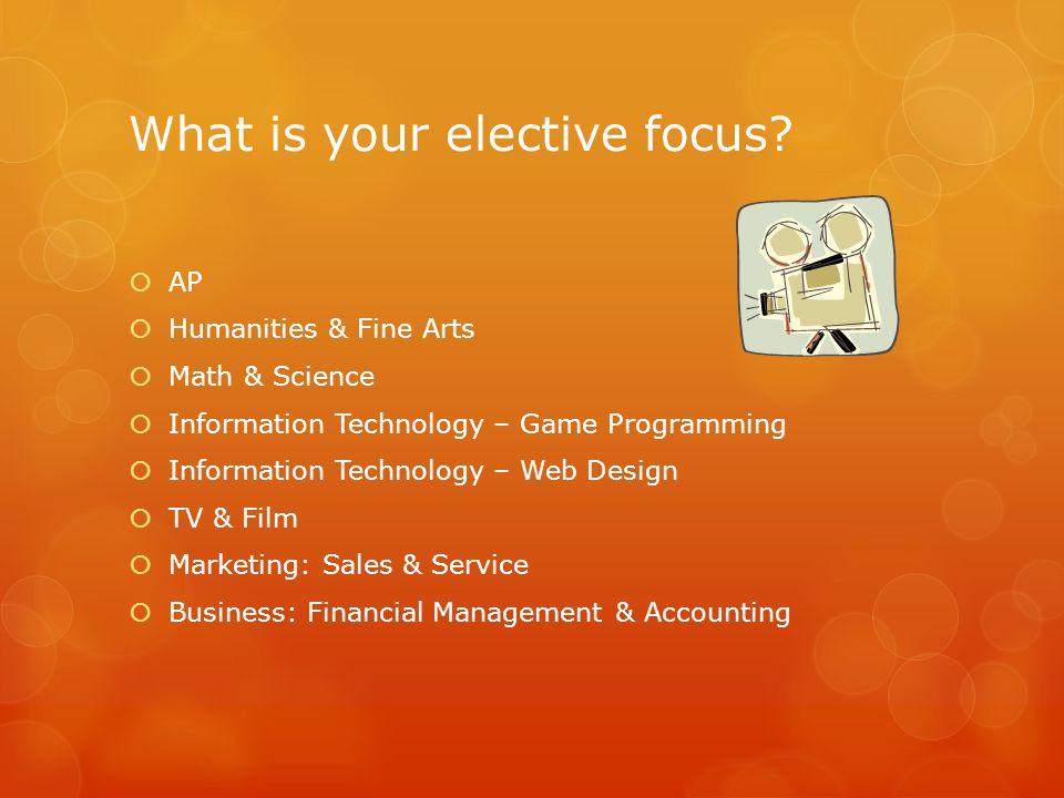 What is your elective focus