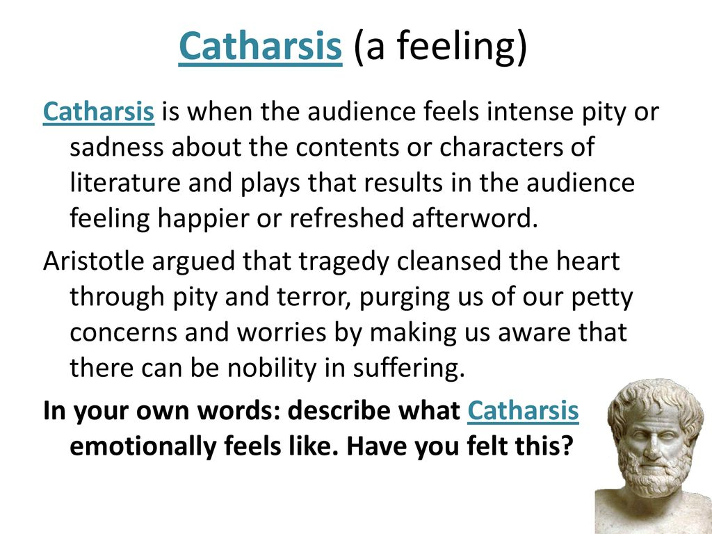 catharsis is a term used to describe