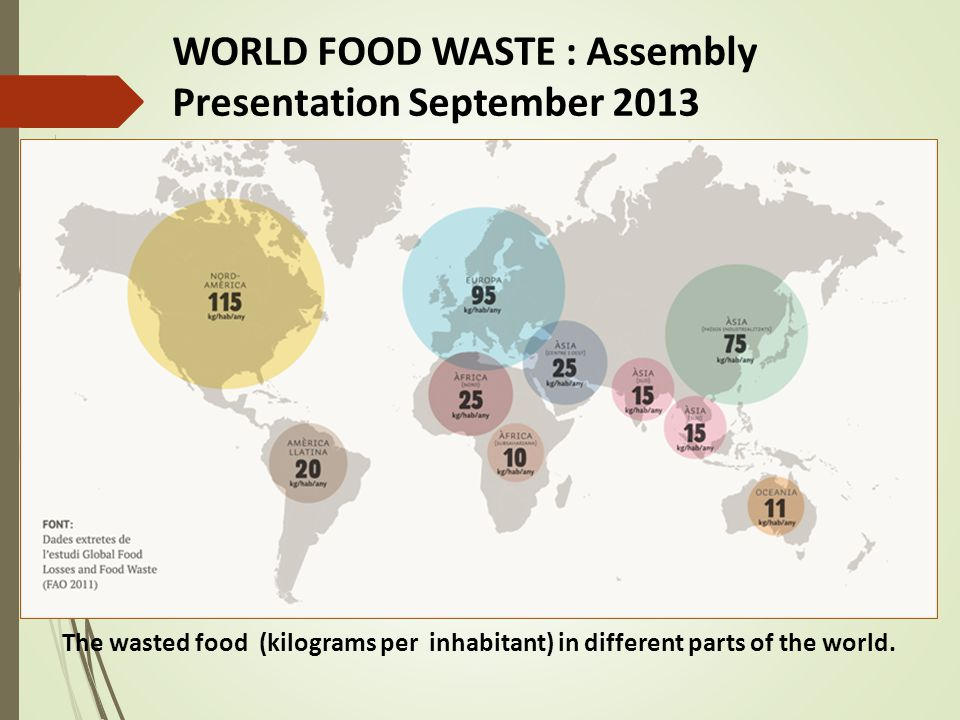 WORLD FOOD WASTE : Assembly Presentation September 2013