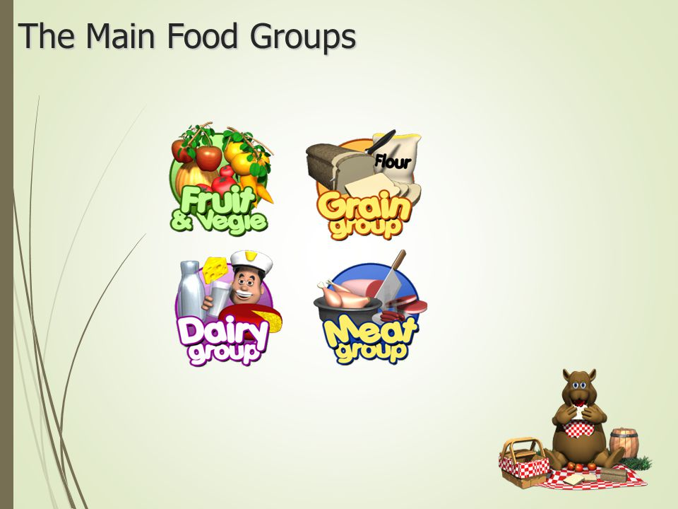 The Main Food Groups