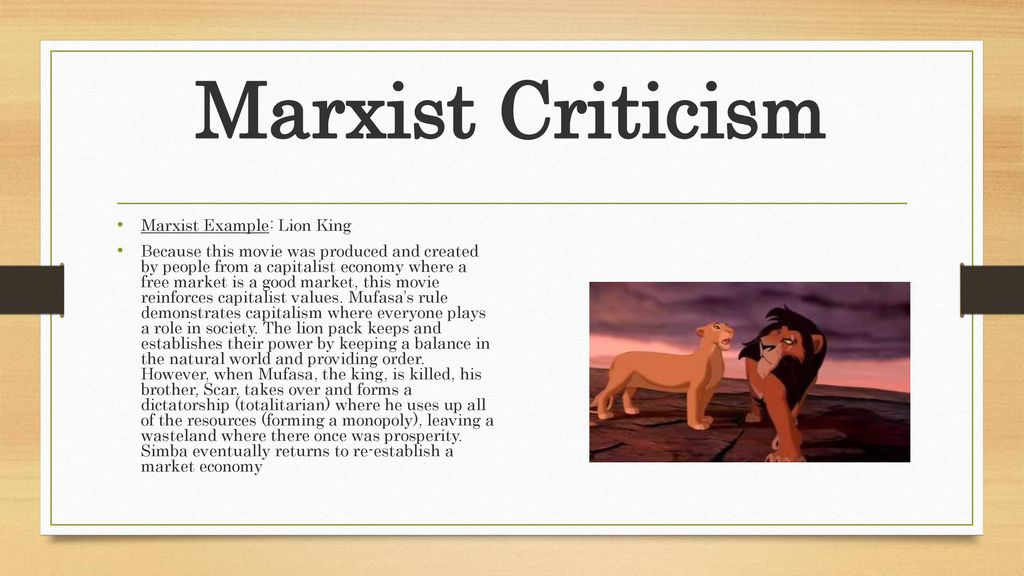 examples of marxism in movies