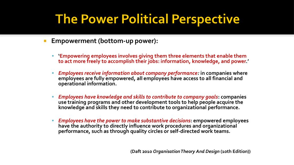 Week 3 Measuring Organisations The Power Political Perspective Ppt Download