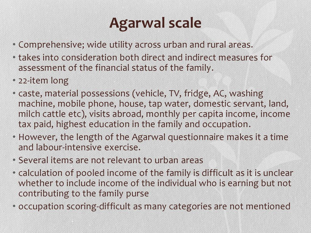 SOCIO ECONOMIC SCALES -Dr  MANJU T L  - ppt download
