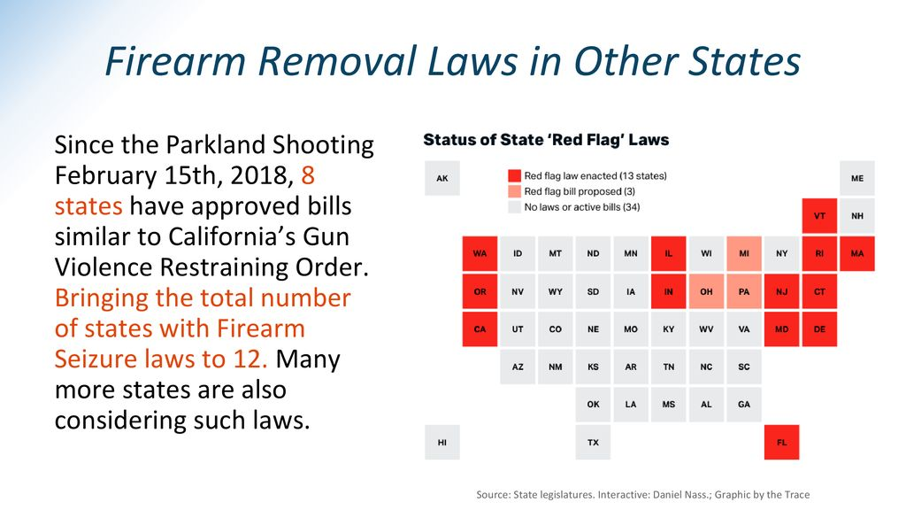 Firearm Removal Laws in Other States