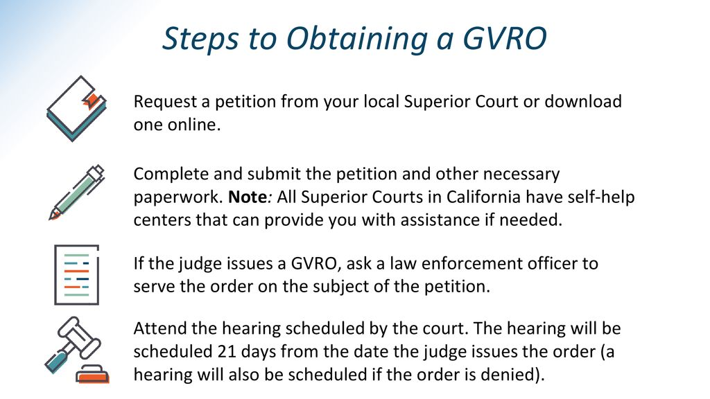 Steps to Obtaining a GVRO